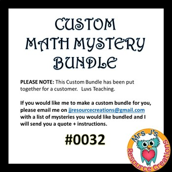 Custom Bundle Order #0032