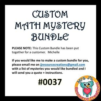 Custom Bundle Order for Michelle #0037