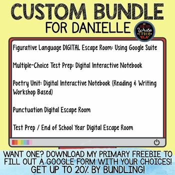 Custom Bundle Request for Danielle K.