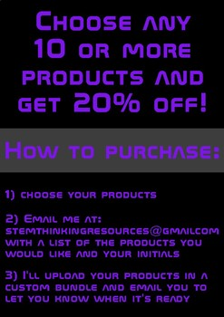 Custom Bundle- any 10 or more products for 20% off!!!