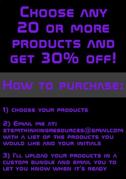 STEM Custom Bundle 20 or more products 30% off!!! Doodle Notes