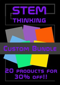 STEM Visual Guided Notes Test Prep CUSTOM BUNDLE 20 or more products 30% off!!!