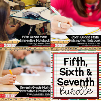 ULTIMATE Fifth, Sixth and Seventh Math Interactive Notebook