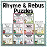 RHYME AND REBUS WORD PUZZLES - Spelling and Phonics Fun!
