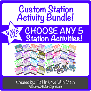 Custom - Choose 5 - Station Activities!