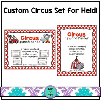 Custom Circus set for Heidi
