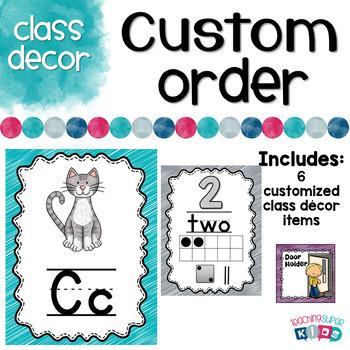 Custom Class Decor Items Deanna