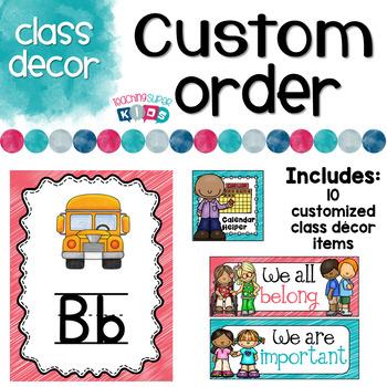 Custom Class Decor Items Katie