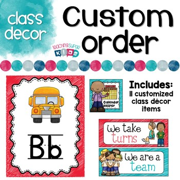 Custom Class Decor Items Peggy