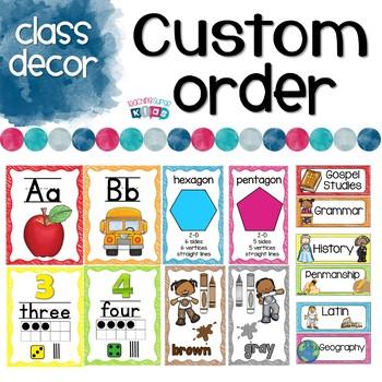 Custom Class Decor Items Rachel