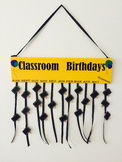 Custom Classroom Birthday Sign