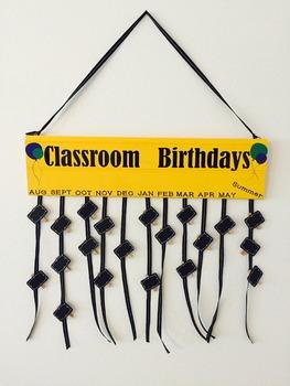 Custom Classroom Birthday Sign