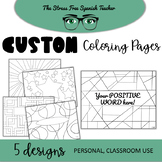 Custom Classroom Coloring Pages, Great for Back to School time!