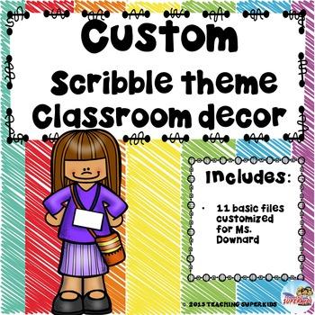 Custom Classroom Decor Bundle For B Downard