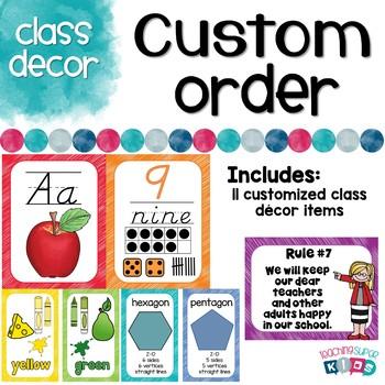 Custom Classroom Decor Bundle Karen
