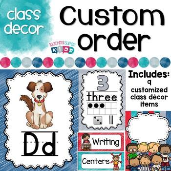 Custom Classroom Decor Bundle Lauren