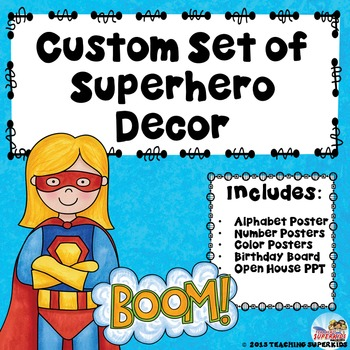 Custom Classroom Decor Bundle Superhero Theme