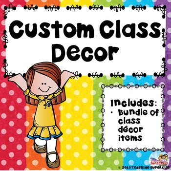 Custom Classroom Decor Bundle for B. Giddens