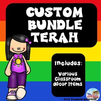 Custom Classroom Decor Bundle for Terah