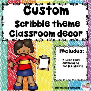 Custom Classroom Decor Kit for Ms. Madrid