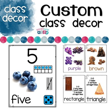 Custom Classroom Decor set with real photos