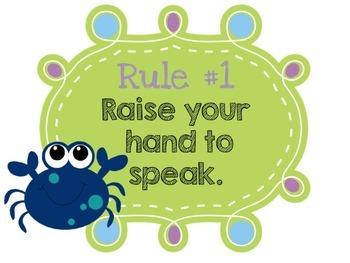 Editable Classroom Rules {Ocean Theme}
