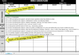 Custom Common Core Reading or Math Intervention Weekly Lesson Plan Template