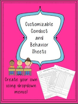 Custom Conduct Sheets with Drop-Downs!
