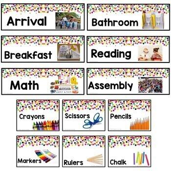 Confetti Themed Classroom Decor Bundle