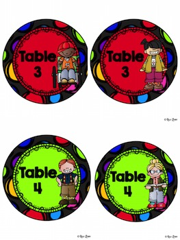 Table Signs:  Melonheadz's Kidlette Themed