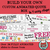Custom Design Animated TPT Quote Box Builder