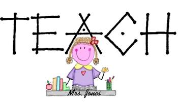 Personalized Designed Teacher Logo