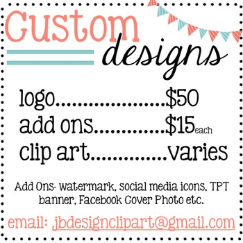 Custom Designs (logo, watermark, social media icons JB Design)
