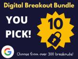 Custom Digital Breakout Bundle: 10 (End of The Year Activities)