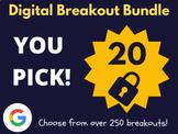 Custom Digital Breakout Bundle: 20 (End of The Year Activities, Summer)
