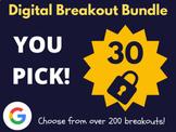 Custom Digital Breakout Bundle: 30 (End of The Year Activities)
