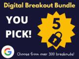 Custom Digital Breakout Bundle: 5 (End of The Year Activities)