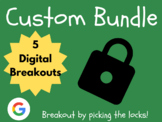 Custom Digital Breakout Bundle: (ELA, Math)