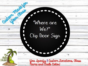 Custom Distressed Wood and Chalkboard Where are We Sign