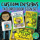 Custom Door Sign & Planner Cover Set {to match your name, team & chosen theme!}