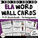 ELA Word Wall Editable - 4th-5th BUNDLE - No Backgrounds