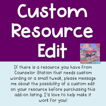 Custom Edit Add-On for Counselor Station Resources