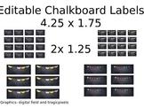 Custom Editable Chalkboard Labels
