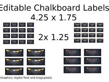 image relating to Chalkboard Labels Printable named Editable Chalkboard Labels Worksheets Schooling Materials TpT