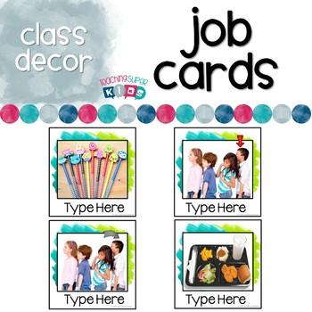 Custom Editable Student Job Cards