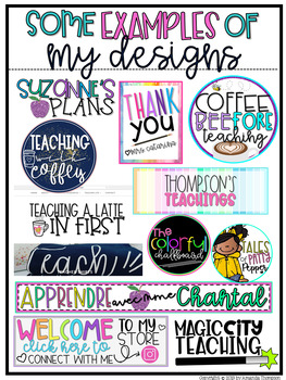 Educator and Teacher Logo and Banner PACKAGES for Instagram, TPT, and more!