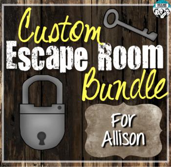 Custom Escape Room Bundle for Allison