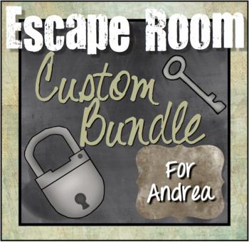 Custom Escape Room Bundle for Andrea