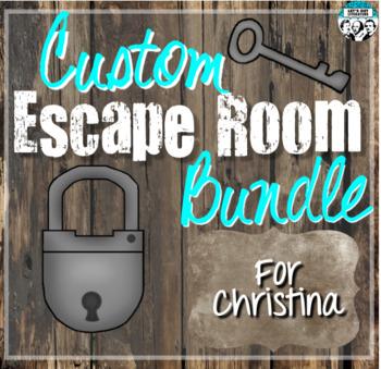 Custom Escape Room Bundle for Christina
