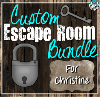 Custom Escape Room Bundle for Christine